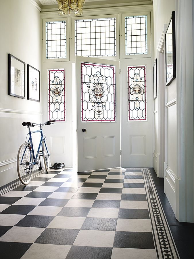 A Classy And Classic Checked Lvt Black White Floor From Www