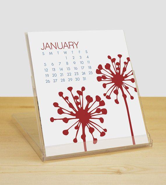2014 Botanical Desk Calendar di ModernPrintedMatter su Etsy, $8.00