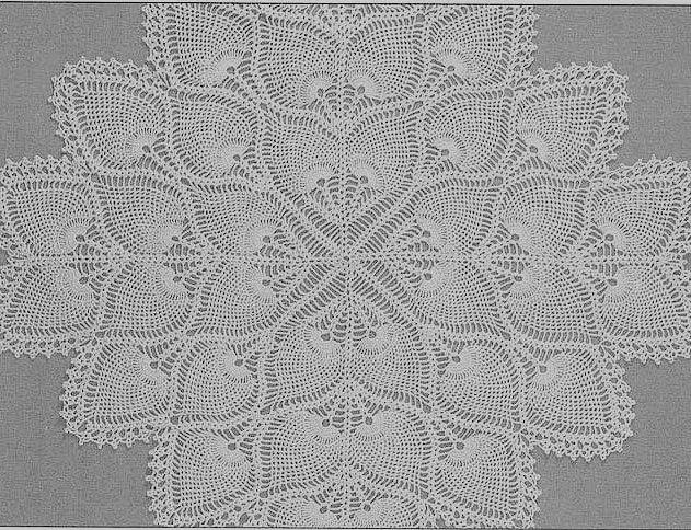 Square Pineapple Doily | toalhas quadrada | Pinterest | Deckchen ...