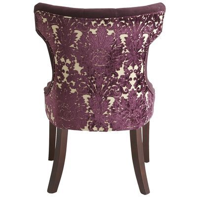 Pier 1 Imports Hourglass Dining Chair Purple Damask