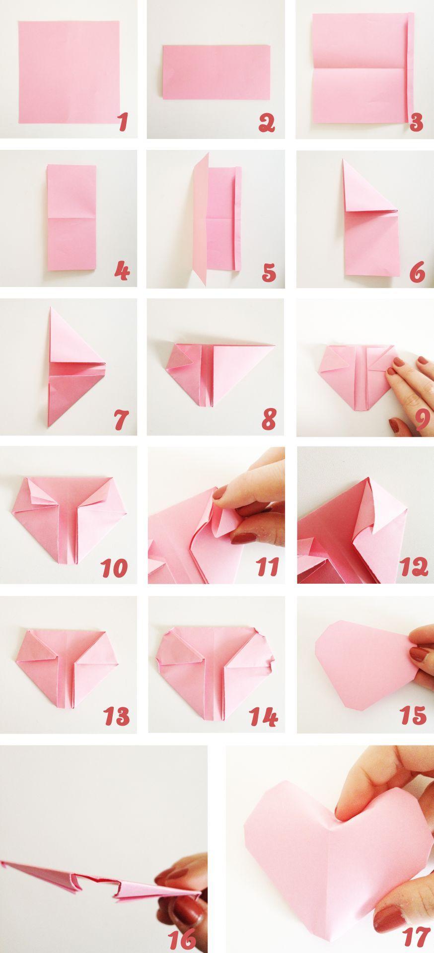 Diy coeur origami origami craft and origami hearts diy coeur origami locia itrma more jeuxipadfo Gallery