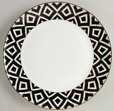 GRACE\u0027S TEAWARE DINNER PLATES Set Of 4 - BLACK \u0026 WHITE WITH GOLD TRIM - NEW  sc 1 st  Pinterest & GRACE\u0027S TEAWARE DINNER PLATES Set Of 4 - BLACK \u0026 WHITE WITH GOLD ...