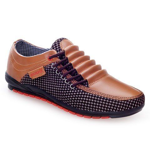 the latest cbf3a 0ff9a Fashion Men s Casual Shoes With Splicing and Round Toe Design