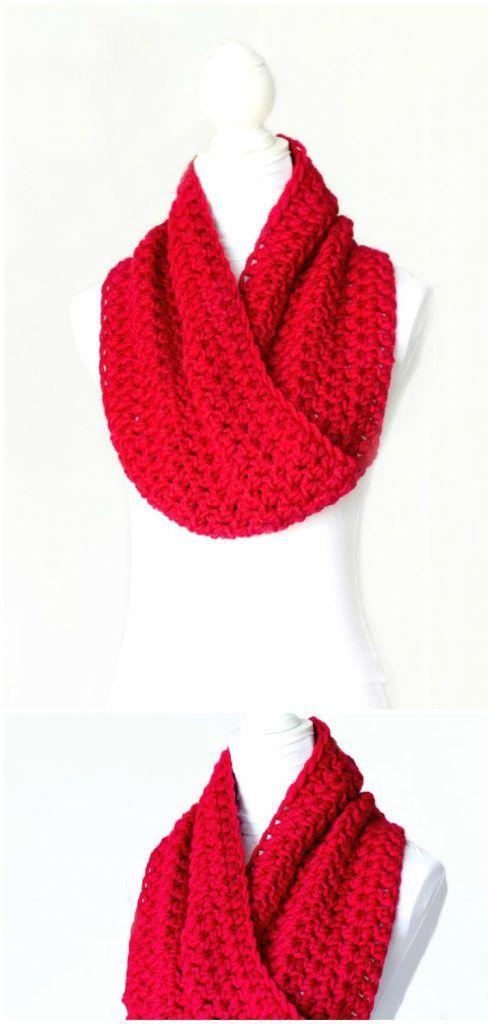81 Free Crochet Cowl Patterns / Crochet Infinity Scarf | Bufandas ...