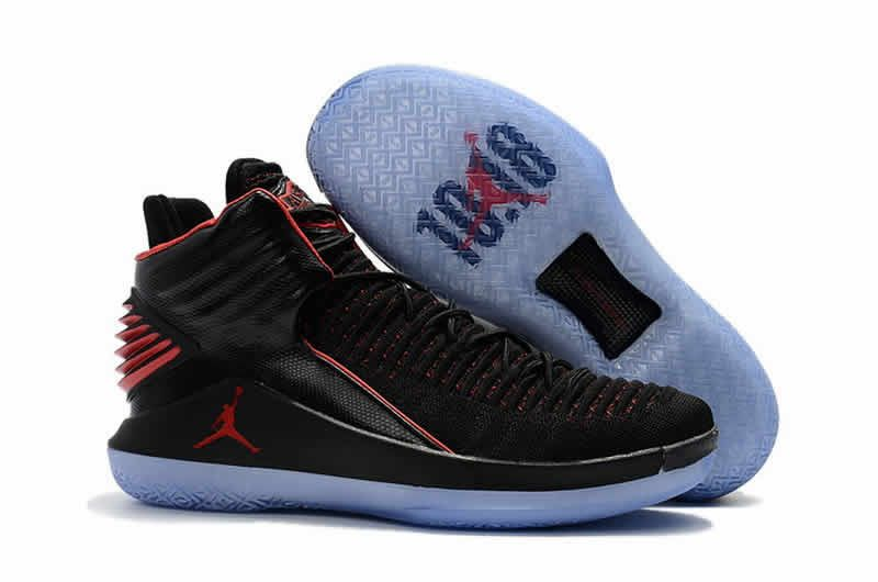 Retro air jordan 32 flights speed men basketball shoes black red ... 5f7692417
