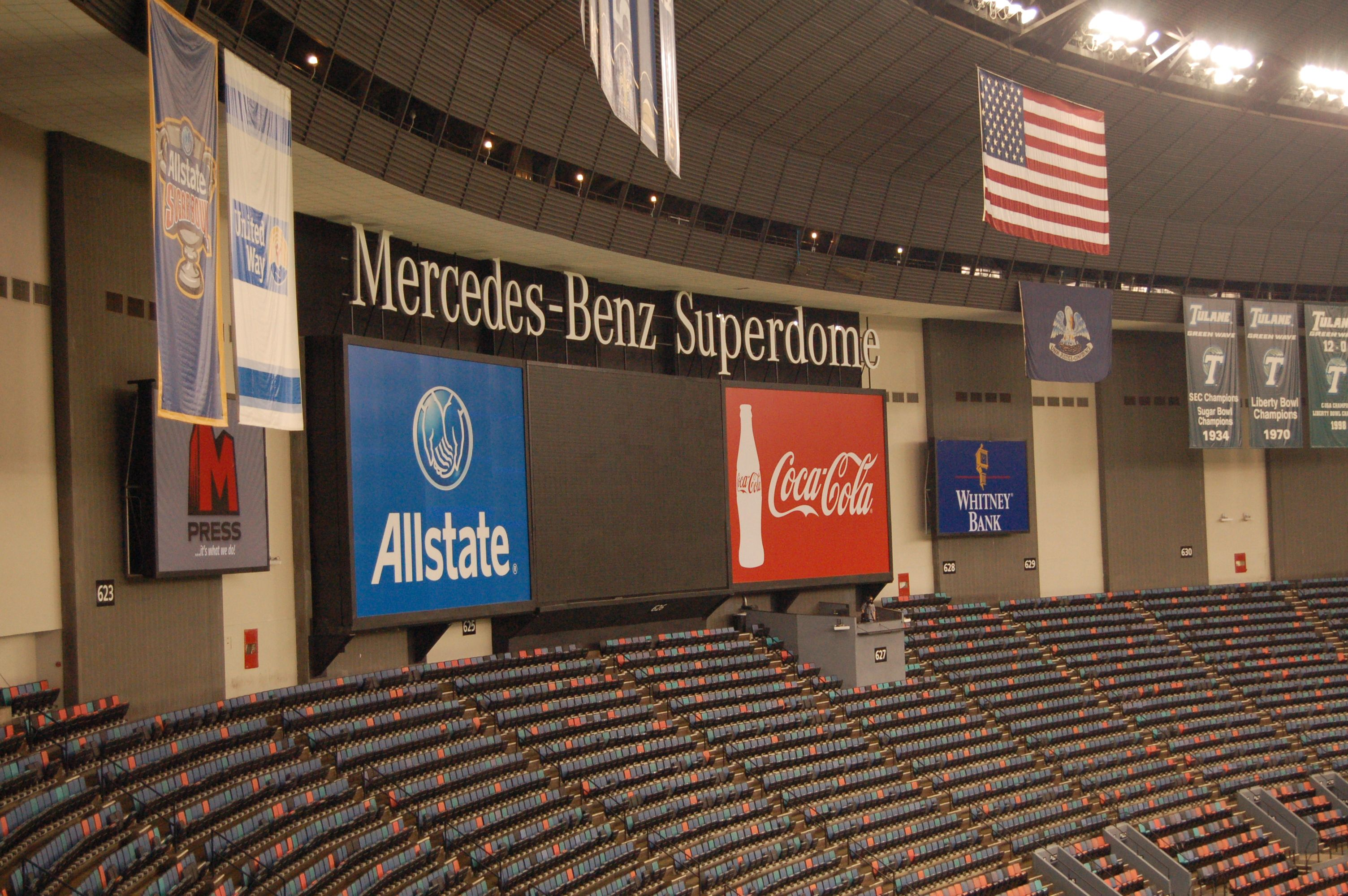 Plans were drawn up in 1967 by the new orleans modernist architectural firm of. Inside The Mercedes Benz Superdome Mercedes Benz Benz Mercedes