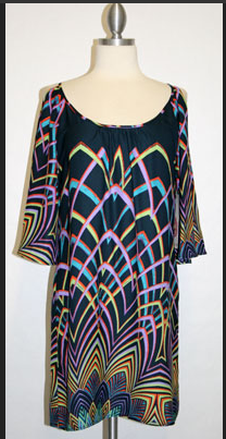 BORDER PRINT OPEN SLEEVE DRESS NAVY $72- CALL SPLASH TO ORDER 314-721-6442