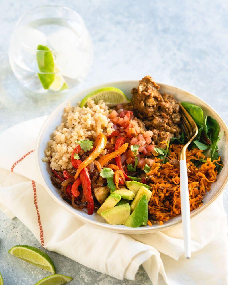 Vegetarian Burrito Bowl with Cauliflower Rice | Recipe | Best ...