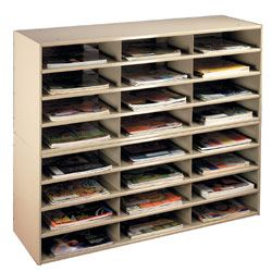 24 Section Literature Organizer, Counter Or Floor, For 8.5 X 11 Catalogs,
