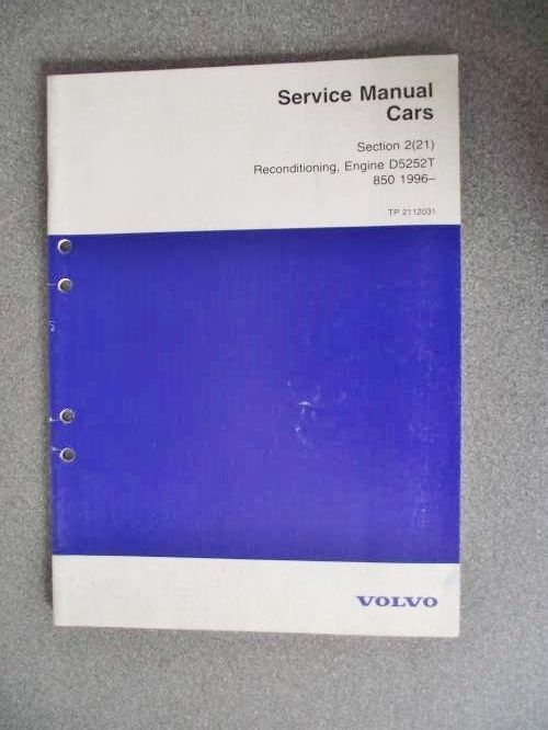 volvo 850 d5252t engine reconditioning manual 1996 tp2112031 volvo 850 d5252t engine reconditioning manual 1996 tp2112031