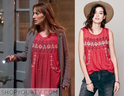 ShopYourTv:Grimm: Season 4 Episode 7 Rosalee's Red Embroidered Top - ShopYourTv