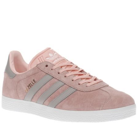buy popular 76033 6d33a ... france womens adidas pale pink gazelle suede trainers 1c7b2 32afc