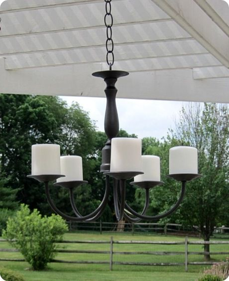 Beautiful Outdoor Candle Holder, Made From Those Ugly Old Brass Chandeliers  People Throw Out.