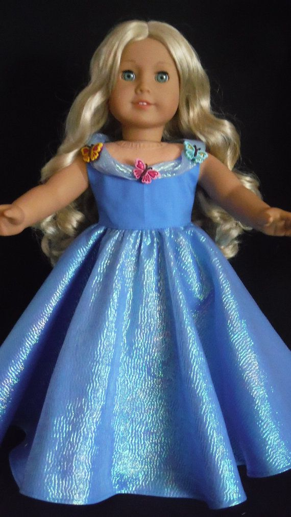 """Cinderella dress inspired by Disney/'s movie for American girl 18/"""" Doll Dress 2pc"""