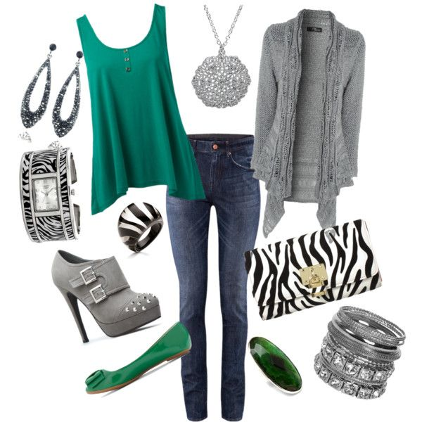zebra-green by danineil on Polyvore featuring mode, Jane Norman, Forever New, H&M, Wet Seal, Golden Classic, Metropark, Fantasy Jewelry Box, Folli Follie and Yumi