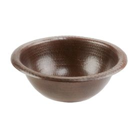 Premier Copper Products Oil-Rubbed Bronze Copper Drop-In Round Bathroom Sink