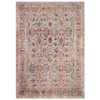 Photo of Safavieh Valencia Gray/Red 4 ft. x 5 ft. 7 in. Area Rug-VAL168Q-4 – The Home Depot