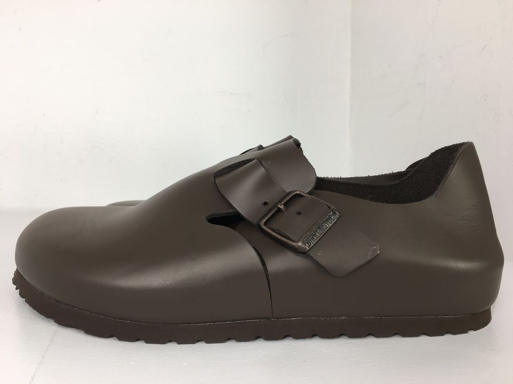 Birkenstock London BROWN Leather Loafer Clogs Women's Shoes Size 39 / 8 US NEW  | eBay