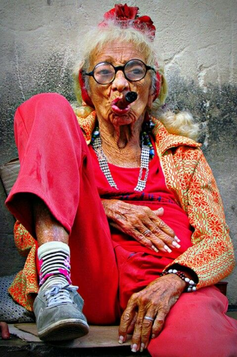 this is one crazy old lady. she has been photographedthousands