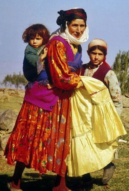Traditional daily village dress from the region of Van.  Kurdish.  Picture: 1970s.