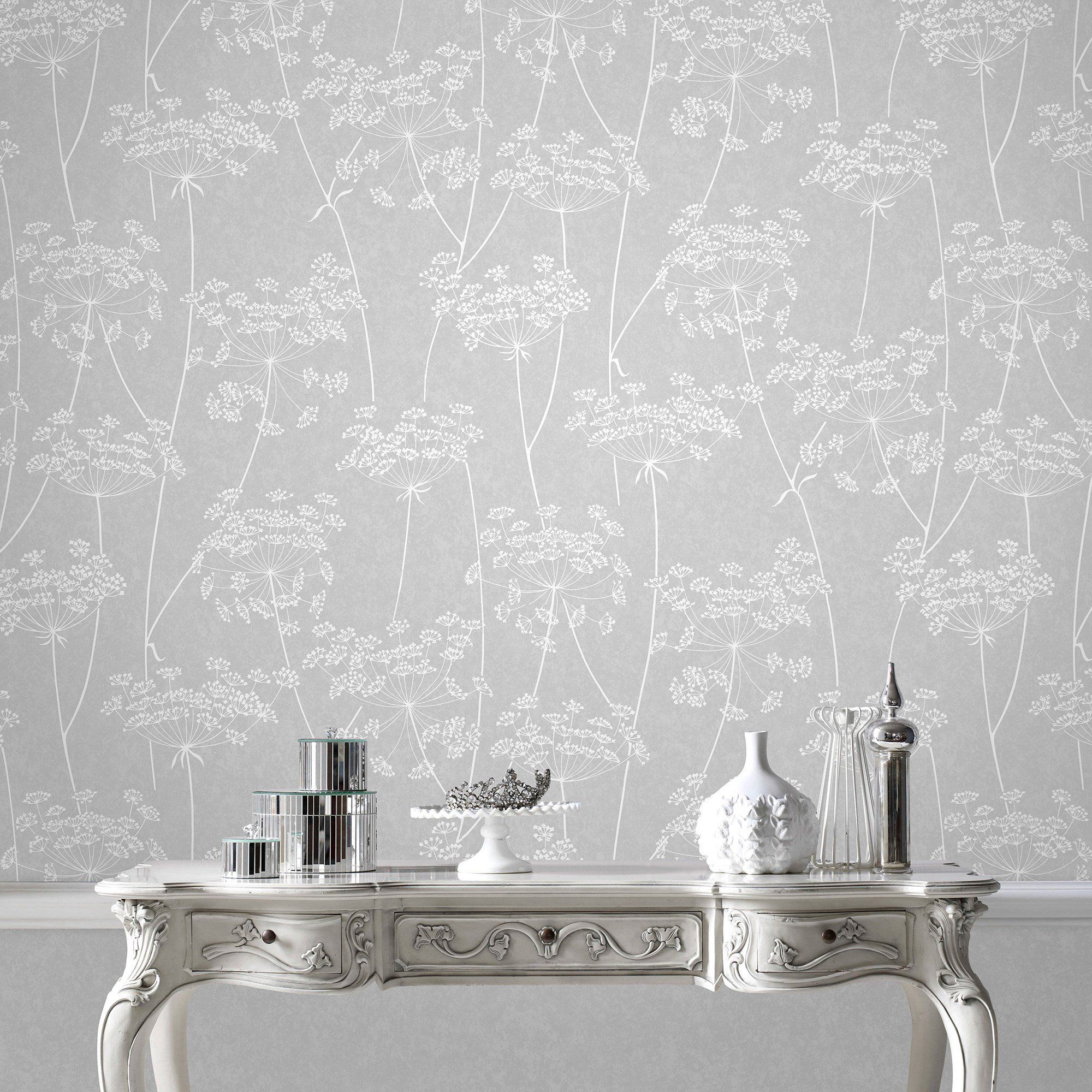 Aura Wallpaper In Grey From The Innocence Collection By Graham Brown Wallpaper Living Room Hallway Wallpaper Grey Wallpaper