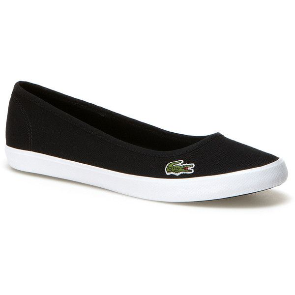 98f574efe11f7 Lacoste Women s Marthe Canvas Flats (72 BAM) ❤ liked on Polyvore featuring  shoes