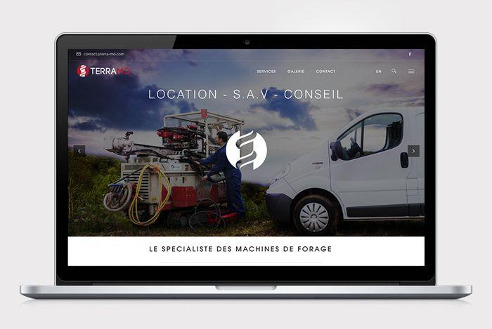 Site vitrine TERRAMO // Sofia Doudine Graphiste Webdesigner B2B Freelance