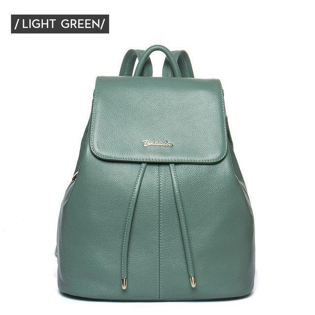 3509d048b8d BOSTANTEN Fashion Designer Cow Genuine Leather Women Backpack ...
