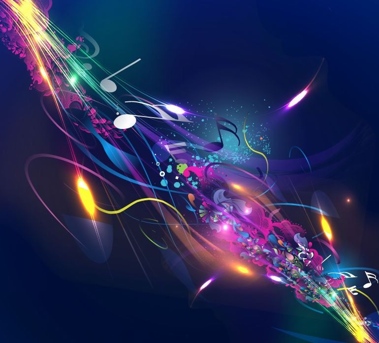 Graphic Design Backgrounds Music Design Background Vector