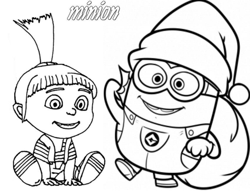 Coloriage Les Minions à Colorier - Dessin à Imprimer