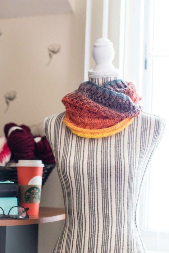 Knit Mandala Cowl FREE knitting pattern for the lion brand mandala yarn