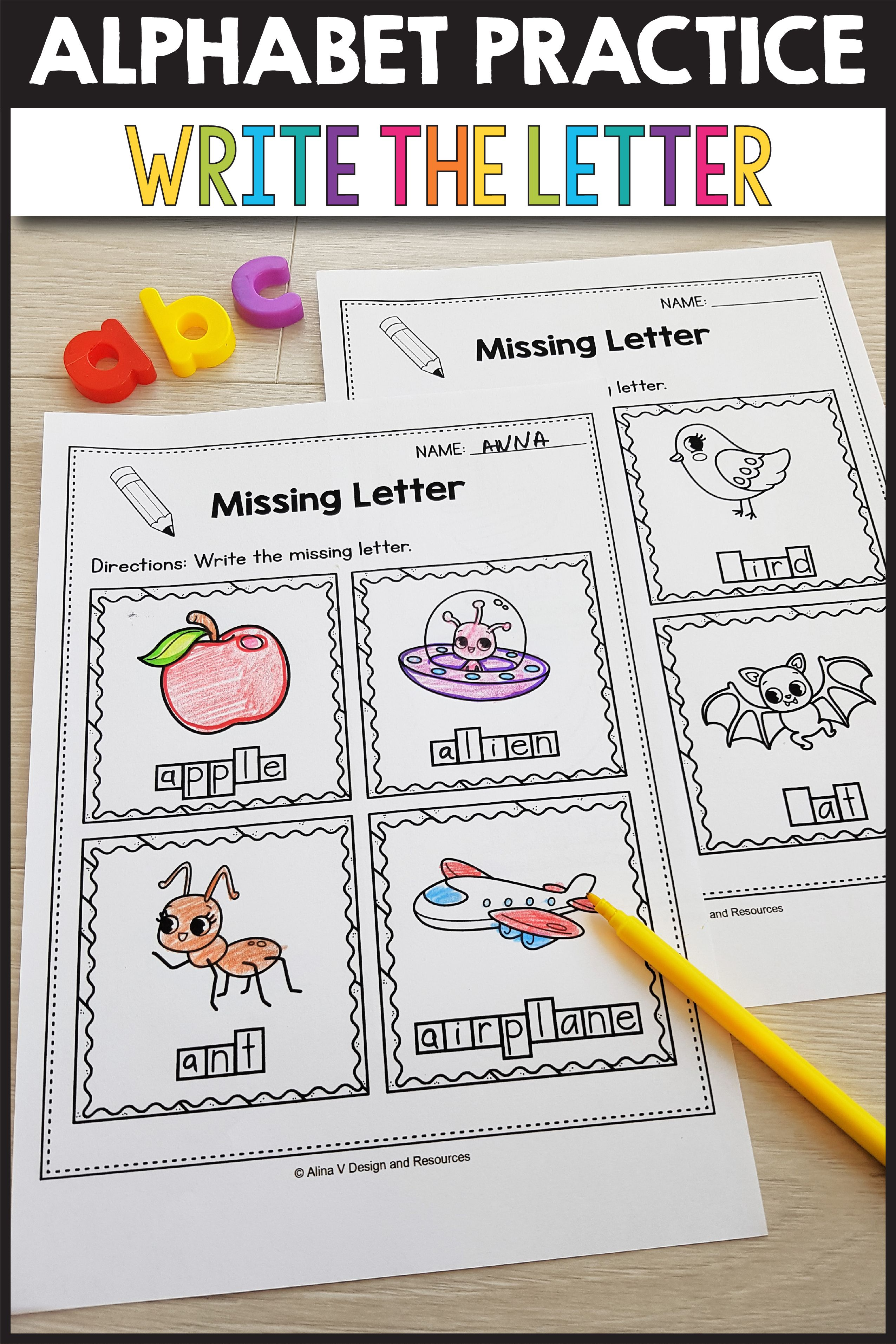 Beginning Sounds Worksheets For Kindergarten Alphabet
