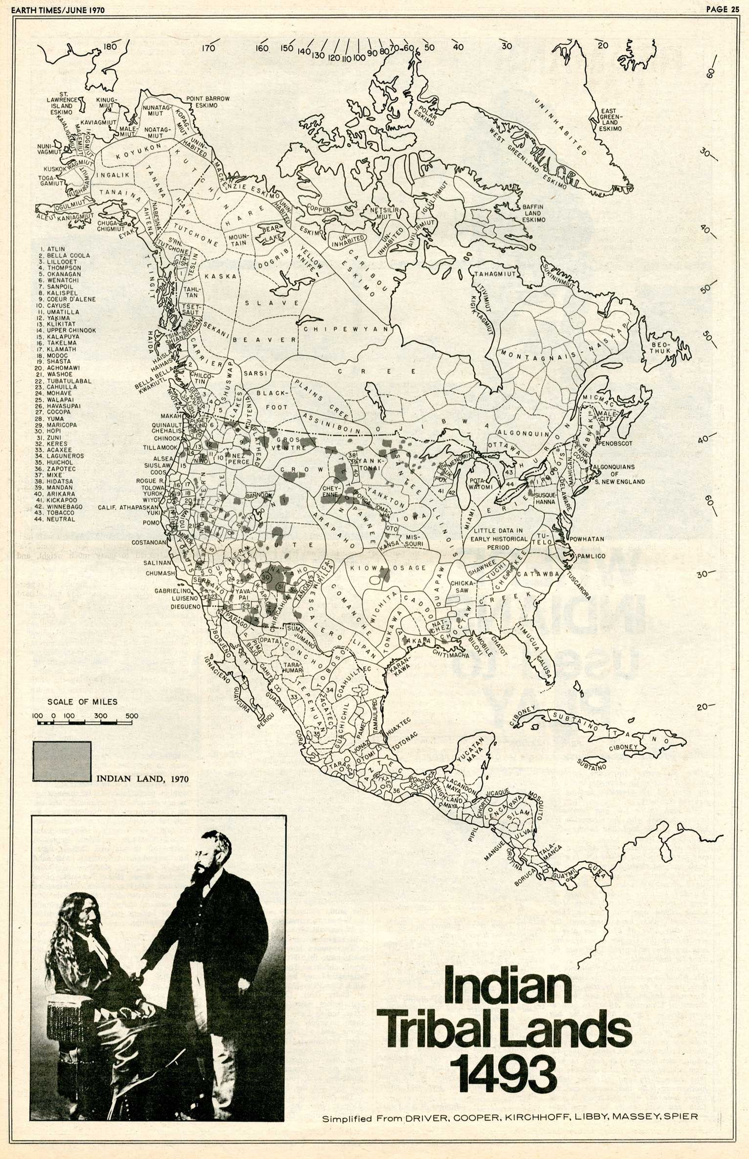 Map Indian Tribal Lands