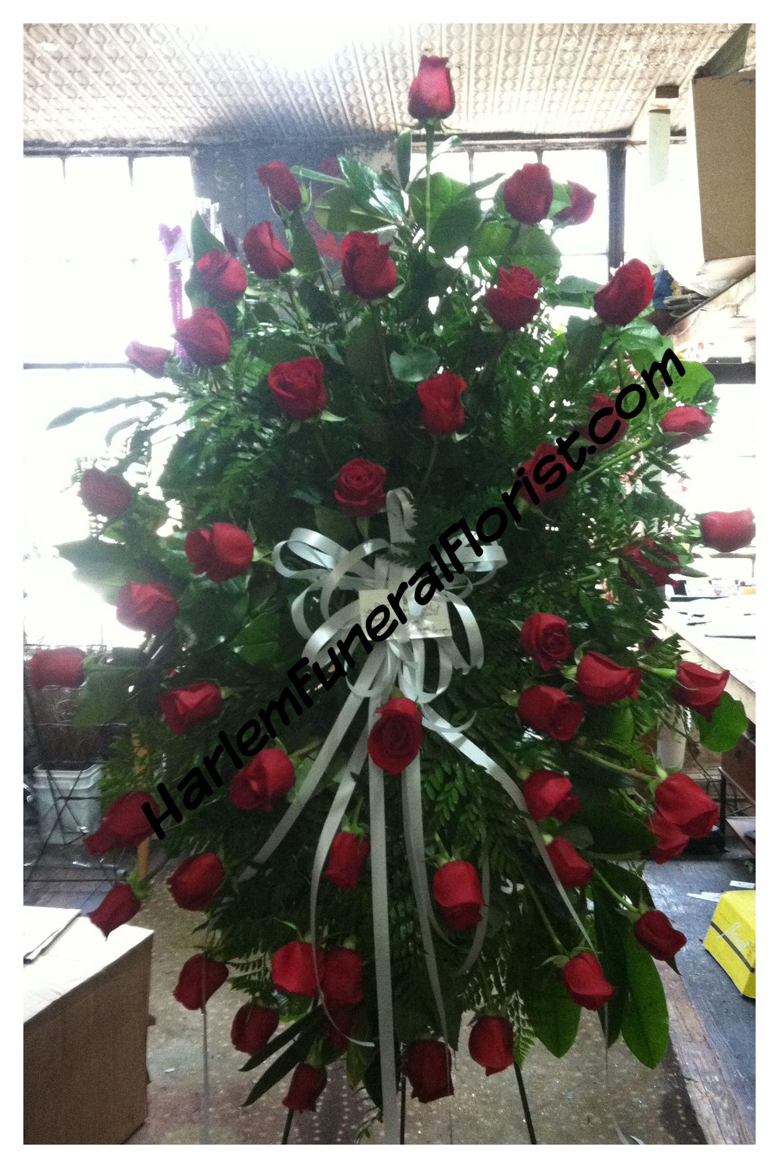 All Red Roses Funeral Flowers Memorial Flowers Funeral Flower Arrangements