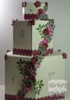 Girlia's Cards.  Paper cake