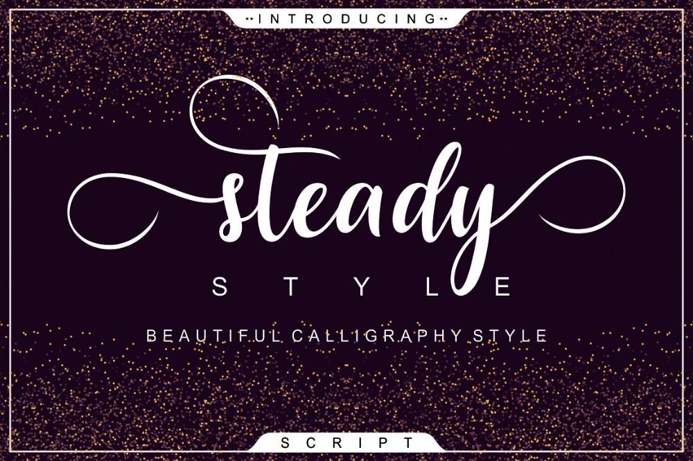 Steady Style Script Free Script Fonts Lettering Fonts Creative Fonts