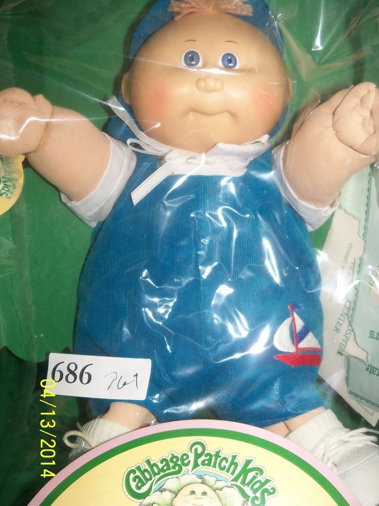 Vintage Cabbage Patch Kids Doll Preemie Boy Coleco In Original Box Papers 1983 Cabbage Patch Kids Cabbage Patch Kids Dolls Preemie Boy