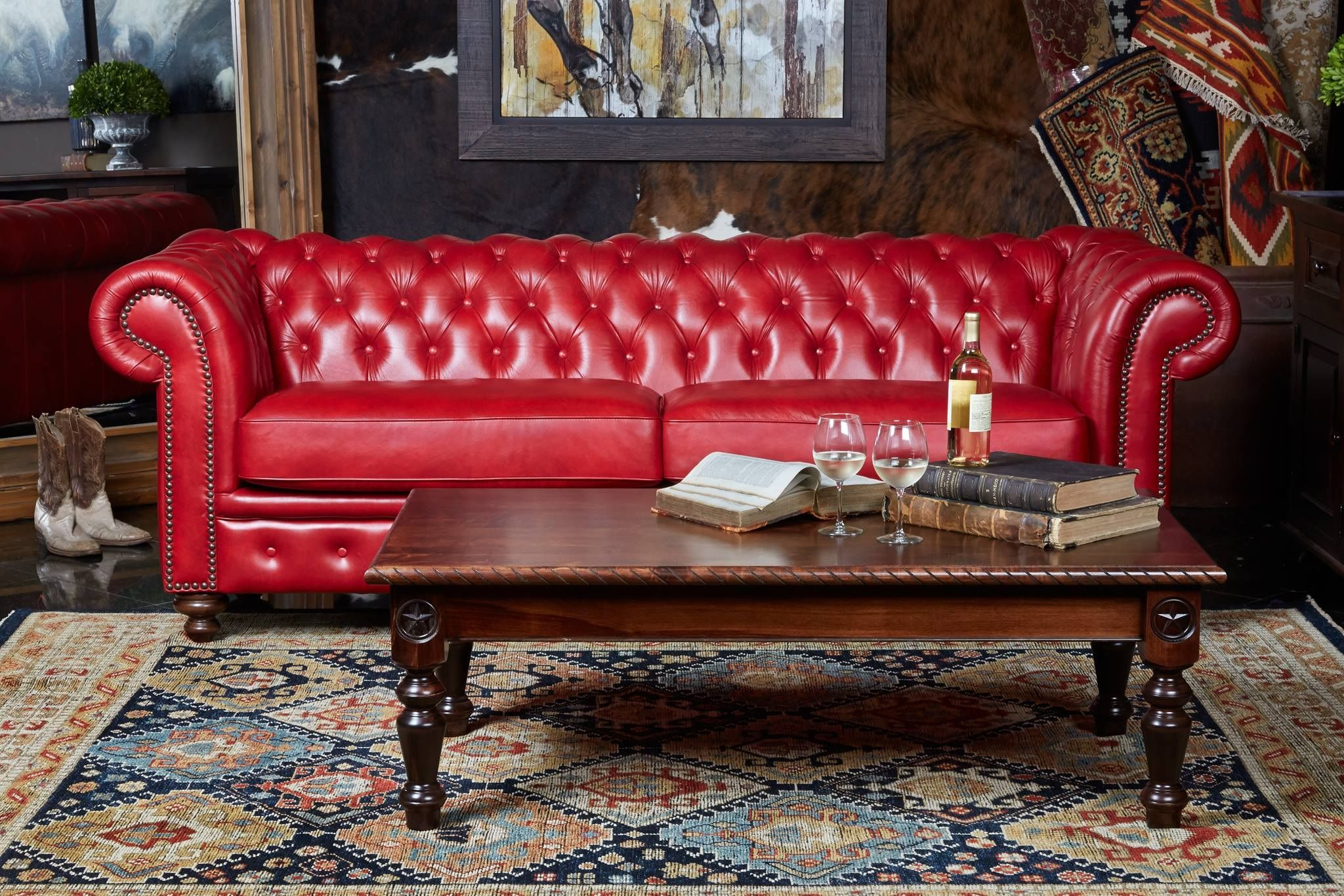 Does Your Furniture Make Your Personal Style Shine In Your Home With The Colchester Pomegranate Set From Gal Furniture Living Room Furniture Gallery Furniture