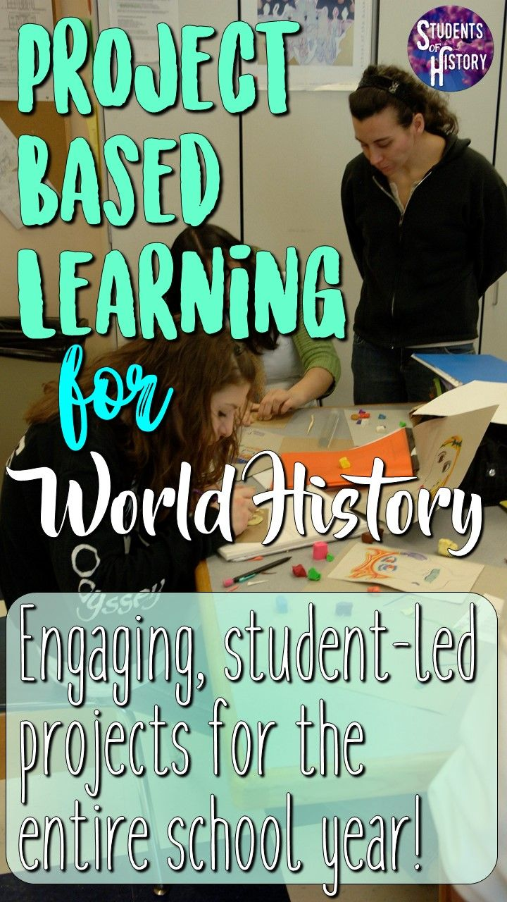 PBL for World History GREAT Project Based Learning packet of activities and ideas for ALL of World History Includes everything you need to have engaging studentled projec...