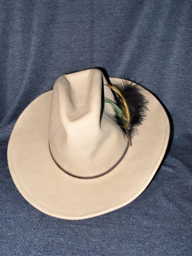 da762730564 Vintage Sheplers by Bailey Western Wichita Men s Small 4X Tan Wool Cowboy  Hat  SheplersbyBailey  Cowboy  Everyday
