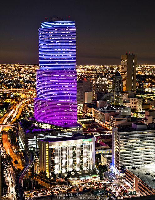 Miami Tower Miami Tower Miami City Downtown Miami