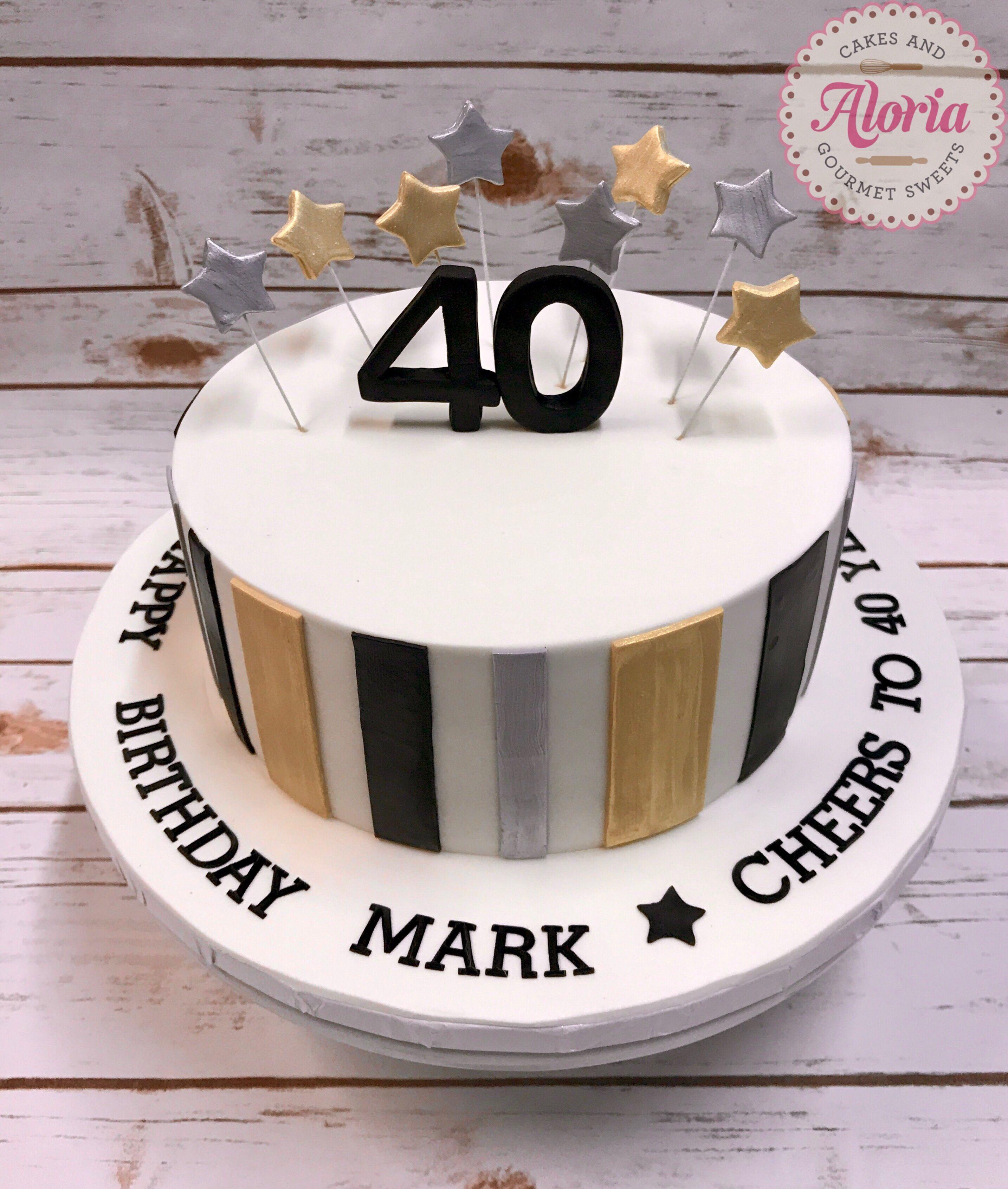 Fondant Cake Birthday Man 40th