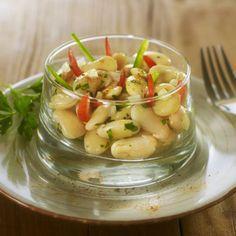 Salade d'haricots blancs aux oignons nouveaux par Alain Alexanian - une recette Salade - Cuisine | Le Figaro Madame