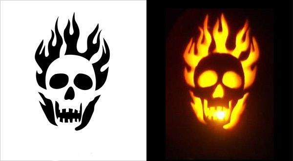Skull Pumpkin Carving Patterns
