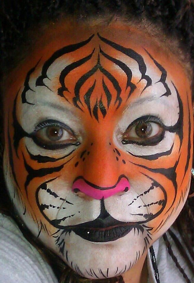 tiger i love the forehead striping face paint. Black Bedroom Furniture Sets. Home Design Ideas