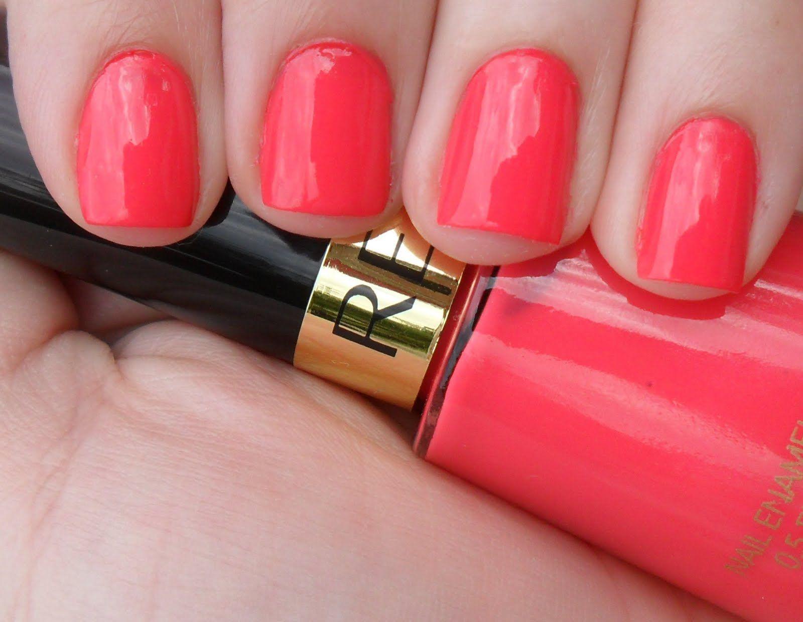 Revlon Nail Enamel, Electric Pink | Nails | Pinterest | Coral nails ...