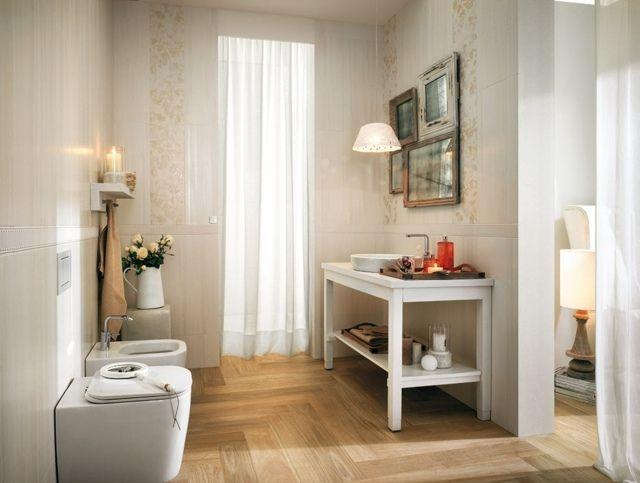 Wasser abweisend Laminatboden weiße Fliesen Bad Bathroom