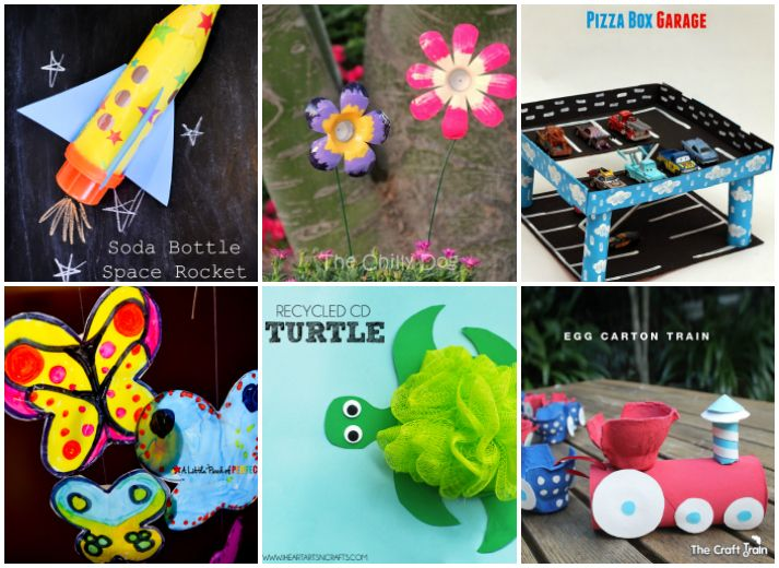 20 kids crafts from recycled materials diy pinterest