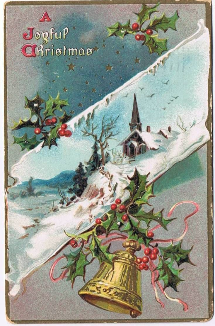 pin on christmas postcards from the past