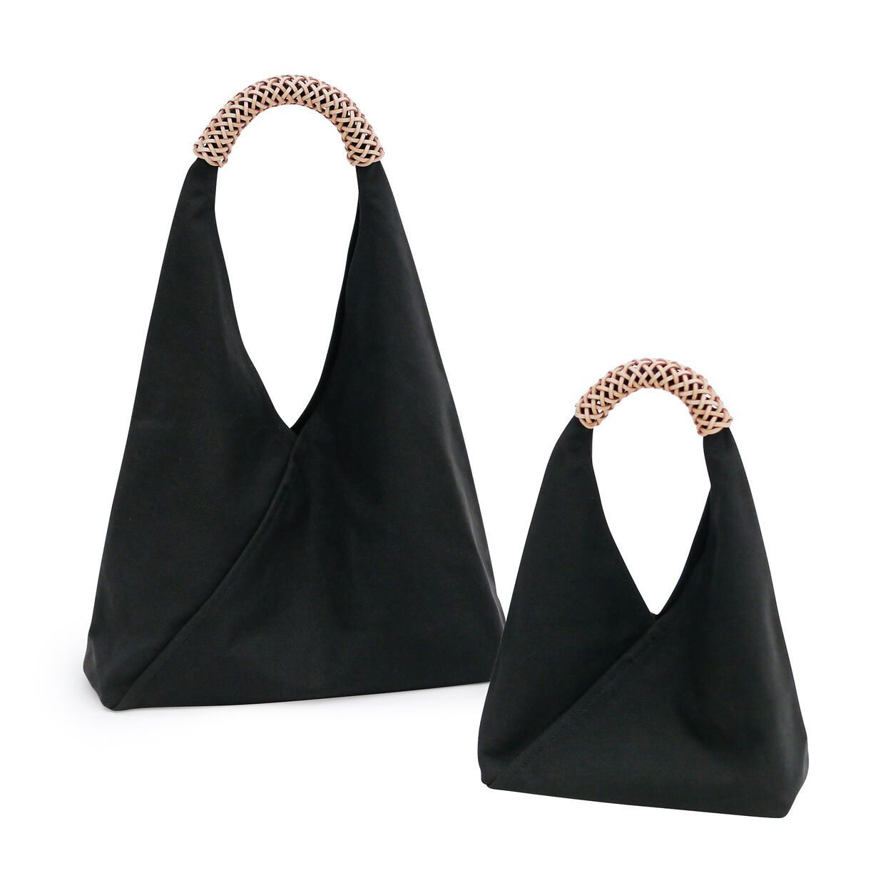 Woven Triangle Bag In 2020 Triangle Bag Bags Leather Handle
